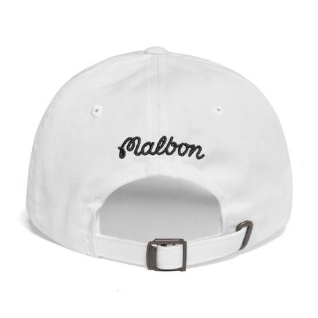 "Malbon ""Golf Is Life"" Dad Hat - White"
