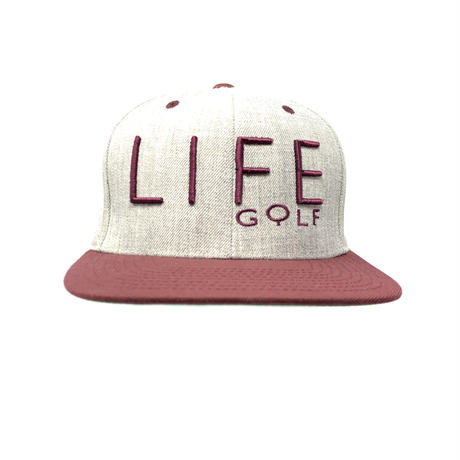 Life Golf heather/burgundy snapback