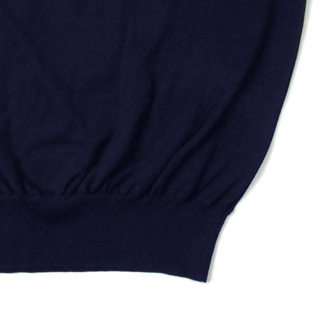 "SLOANE + Clubhouse Cotton Knit ""Skipper"" Navy"