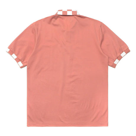 Malbon Golf SHRIKE Checkered Polo ROSE