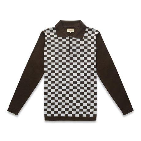 Manors Checkerboard Polo – Walnut
