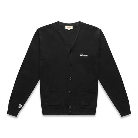 MANORS Knitted Cardigan –BLACK