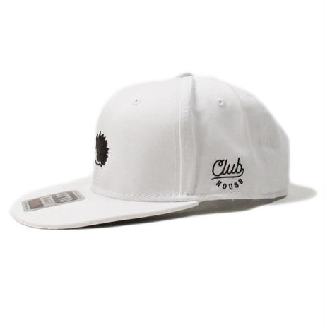 Wedgehog FlatVisor Hat White/DarkBrown