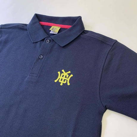 Check Your Head Monogram Polo Navy