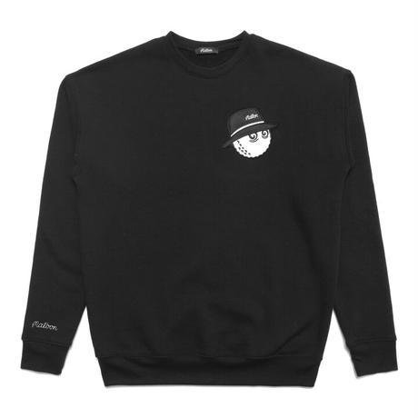 Malbon Cooper Fleece Crewneck - Black/Black