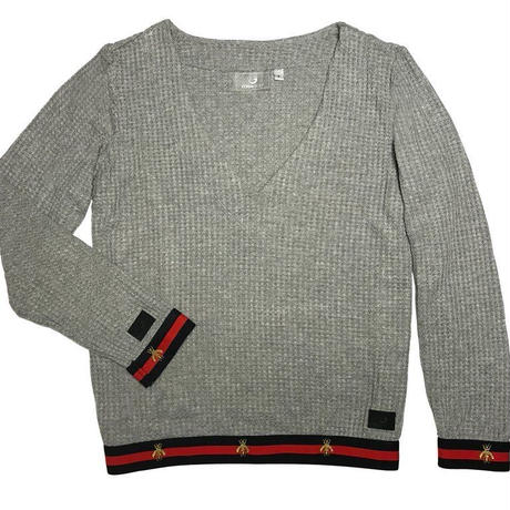 Foray Golf EAST HAMPTON GARDEN Waffle Knit Popover Sweater