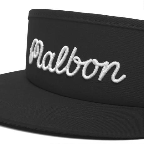 Malbon Script logo Tour Visor V3 -Black/White