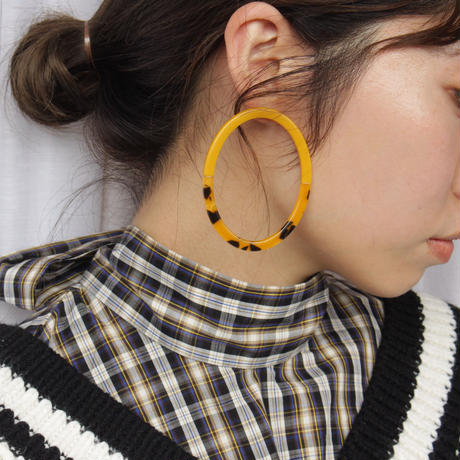two color hoop pierce mustard