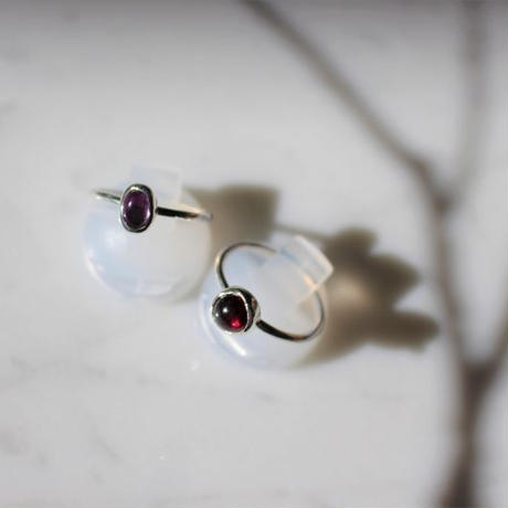 natural stone ring #garnet [size(縦0.6cm,横0.4cm)N]