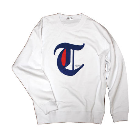 "big""T"" SWEAT white"