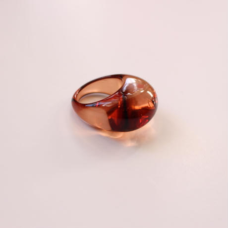 acryl clear ring  marron brown