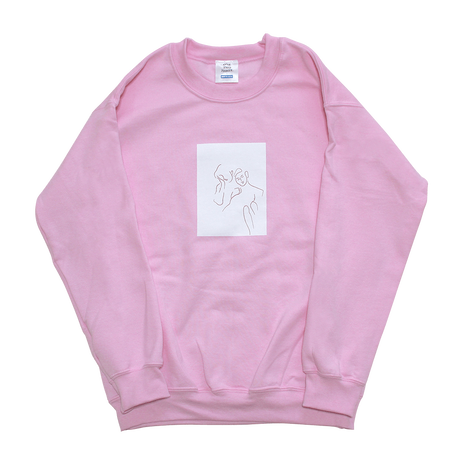 face art pullover/pink
