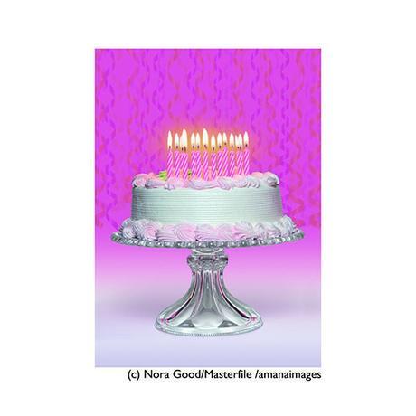 ポストカード【Birthday Cake】バースデーケーキ/誕生日/ピンク/ゴージャス