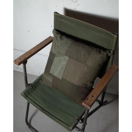 """hobo ホーボー """"COTTON US ARMY CLOTH PATCHWORK CUSHION M""""パッチワーククッション"""