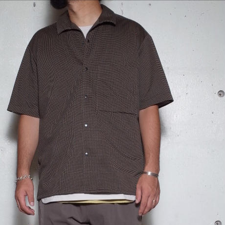 """CURLY カーリー """" REGENCY S/S SHIRTS""""HOUNDSTOOTH""""シャツ"""