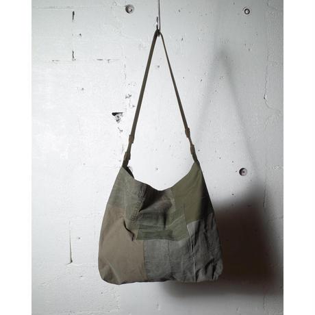 "hobo ホーボー ""COTTON US ARMY CLOTH PATCHWORK SHOULDER BAG""パッチワークショルダーバック"
