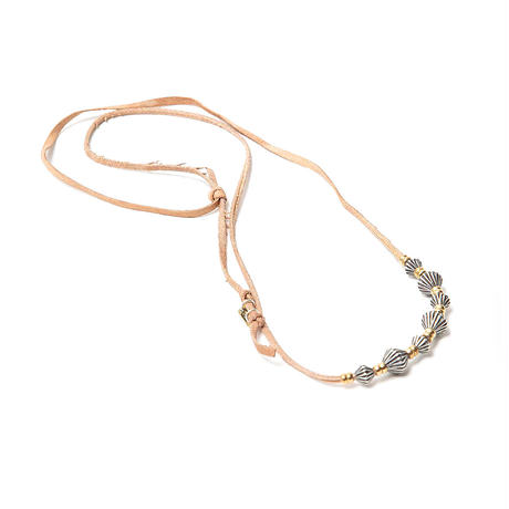 """hobo ホーボー   """"925 SILVER BEADS NECKLACE with COW LEATHER CORD"""" ネックレス"""
