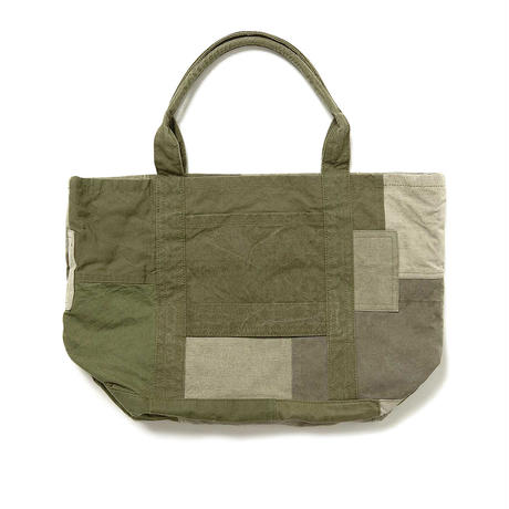"""hobo ホーボー """"COTTON US ARMY CLOTH PATCHWORK TOTE BAG M""""パッチワークトート"""