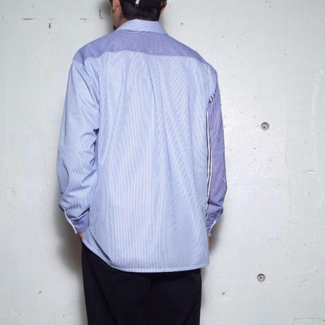 """CURLY カーリー """"CLOUDY L/S SHIRTS """"Panel Stripe"""""""