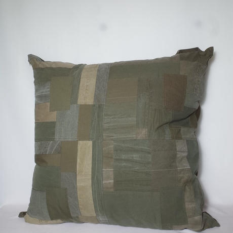 """hobo ホーボー """"COTTON US ARMY CLOTH PATCHWORK CUSHION L""""パッチワーククッション"""