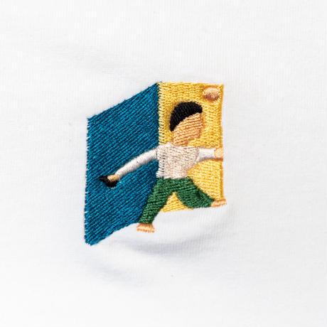 "TACOMA FUJI RECORDS タコマフジレコード ""GOOD BYE embroidery Tee designed by James Ulmer   """