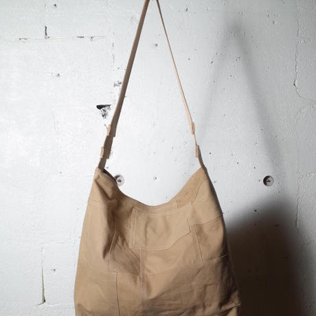 """hobo ホーボー """"COTTON FRENCH ARMY CLOTH PATCHWORK SHOULDER BAG""""パッチワークショルダーバック"""