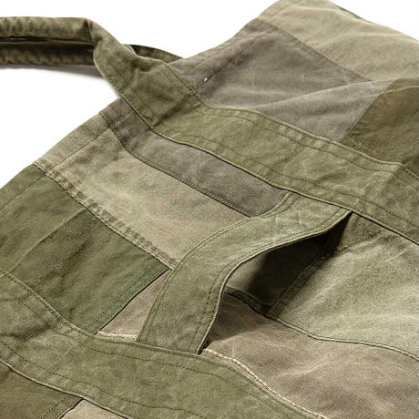 """hobo ホーボー """"COTTON US ARMY CLOTH PATCHWORK TOTE BAG L""""パッチワークトート"""