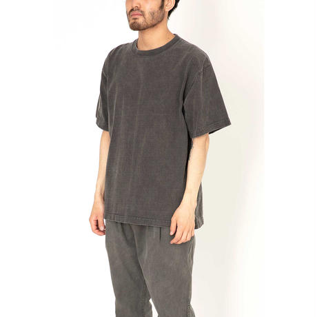 """hobo ホーボー """"ARTISAN S/S CREW NECK TEE COTTON HEAVYWEIGHT JERSEY CHARCOAL DYED"""""""