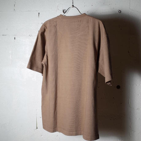 """hobo ホーボー """"COTTON HEAVY WEIGHT JERSEY COFFEE DYED CREW NECK TEE"""""""