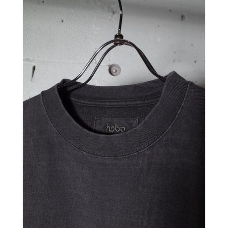 """hobo ホーボー """"COTTON HEAVY WEIGHT JERSEY CHARCOAL DYED CREW NECK TEE"""""""
