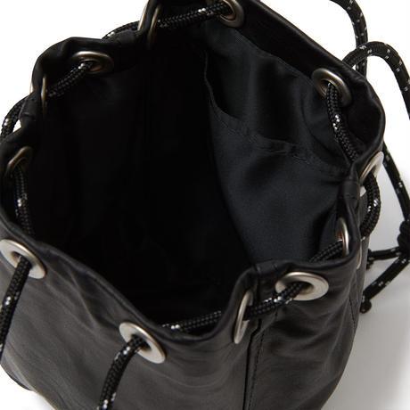 hobo / Waterproof Leather Drawstring Bag Small