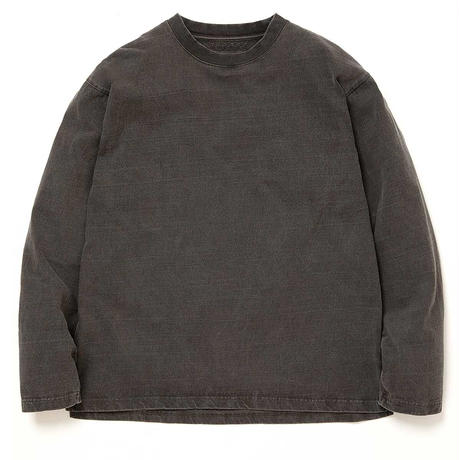 """hobo ホーボー """"ARTISAN L/S CREW NECK TEE COTTON HEAVYWEIGHT JERSEY CHARCOAL DYED"""""""