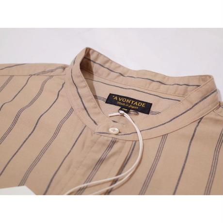 A VONTADE / Banded Collar Shirts -Viera Stripe