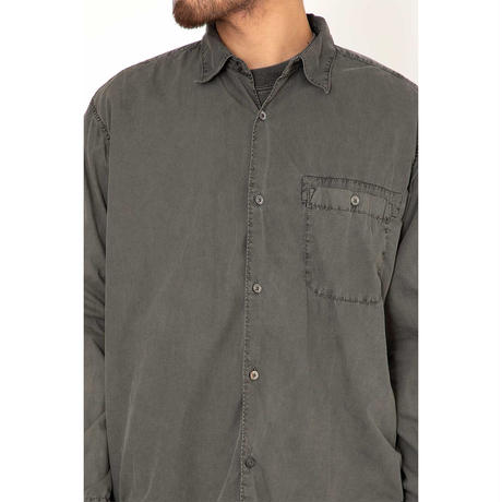"""hobo ホーボー """"ARTISAN L/S SHIRT COTTON BROAD CHARCOAL DYED"""""""