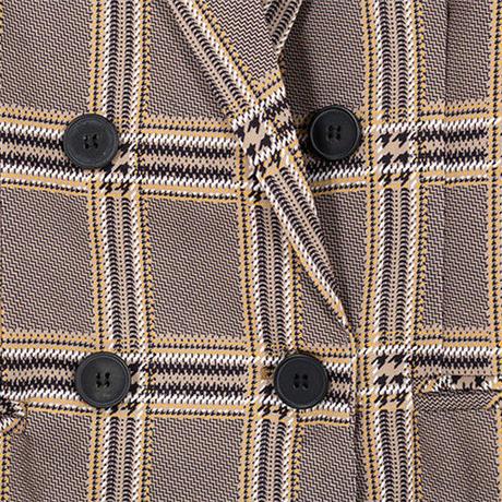 チェック柄デザインジャケットOPB0049
