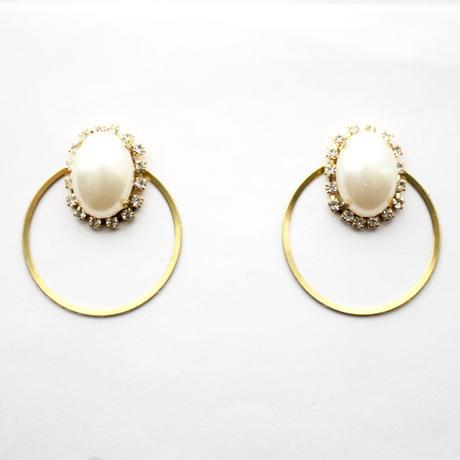 -bijoux hoop pearl-