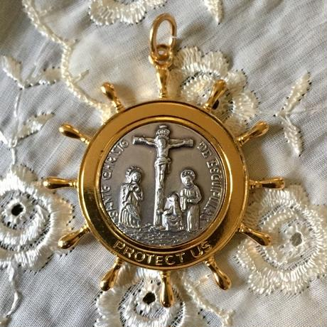 Vintage Medaille or Charm (舵モチーフ・メダイ)- type*B