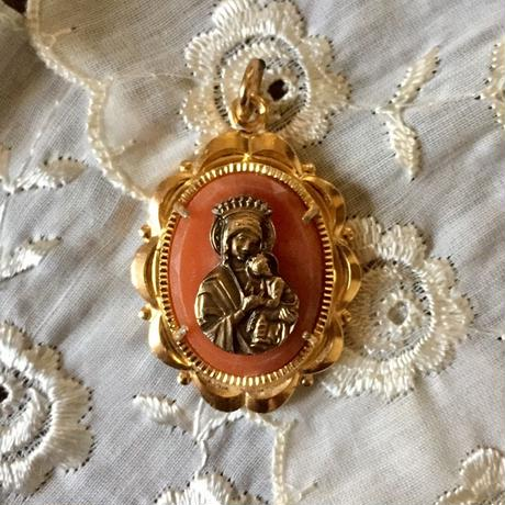 Vintage Antique Medaille or Charm (カメオ風・メダイ)- type*F