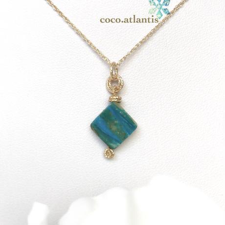 14kgf*blue opal〜青空と大地の織模様**