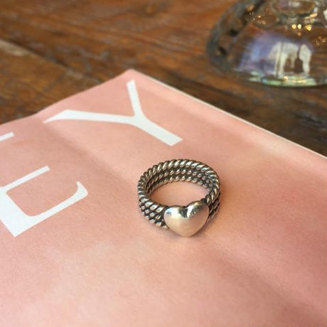 3-Strands Heart Silver Ring