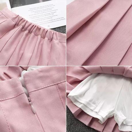 プリーツスカート(ピンク)