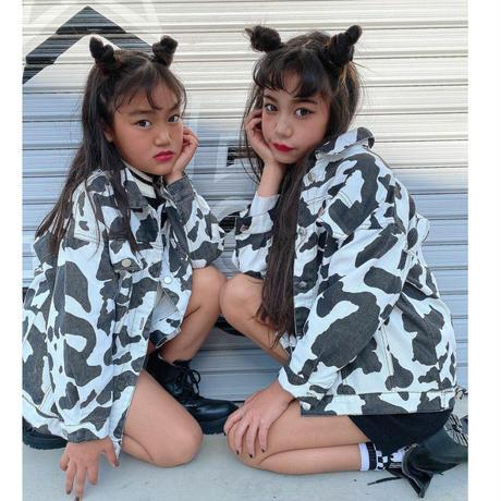牛柄 デニムジャケット