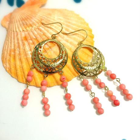 coral chandelier pierce