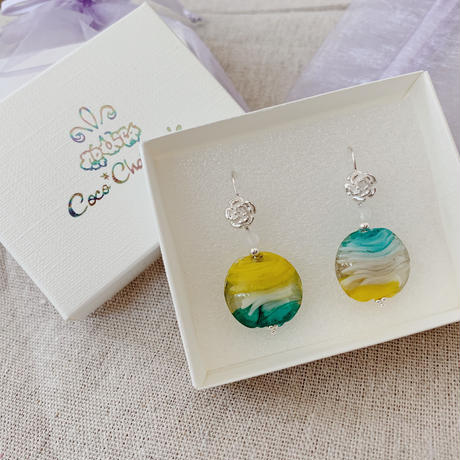 [Silver925]  Designed hook × Lamp work beads