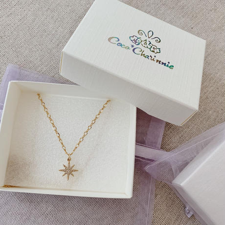 [14kgf] Cz Star Necklace