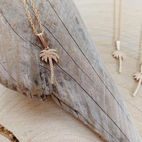 [14kgf] CZ Palm tree Necklace