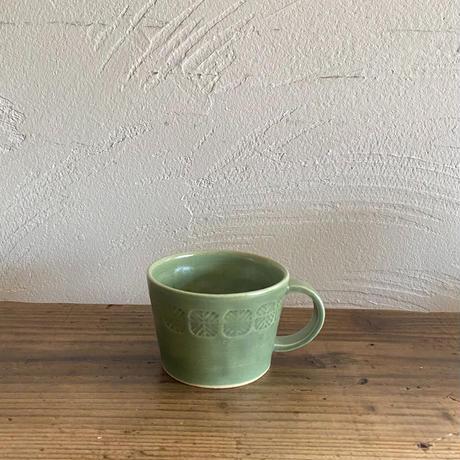 オリーブ釉コーヒーカップ