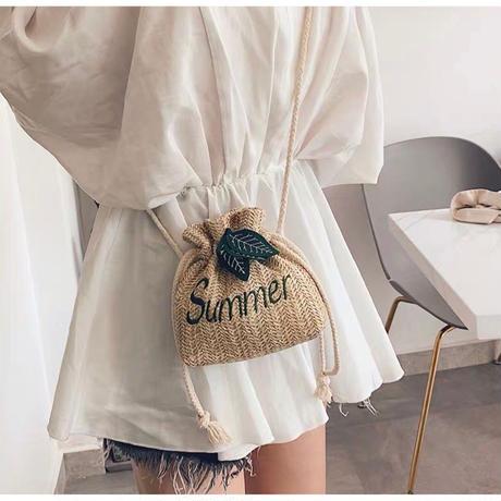 """BG010 : 巾着型""""Summer""""バック"""