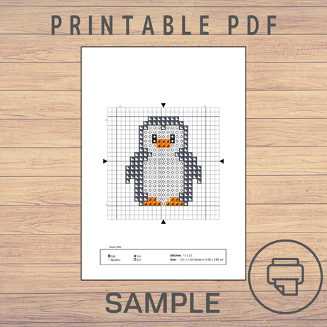 Snowman #8 | Cross stitch pattern
