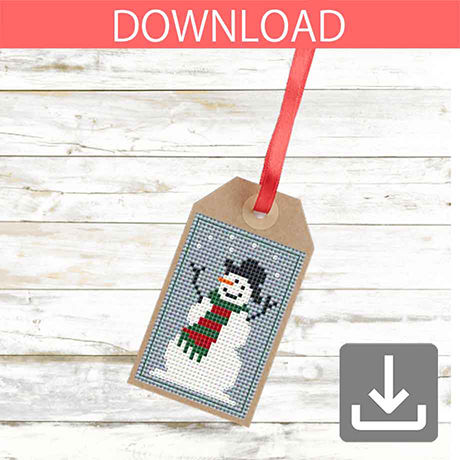 Snowman #3 | Cross stitch pattern
